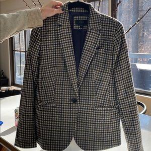 Jcrew plaid blazer. Worn once. Size 8
